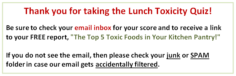 Lunch Toxicity Quiz Results