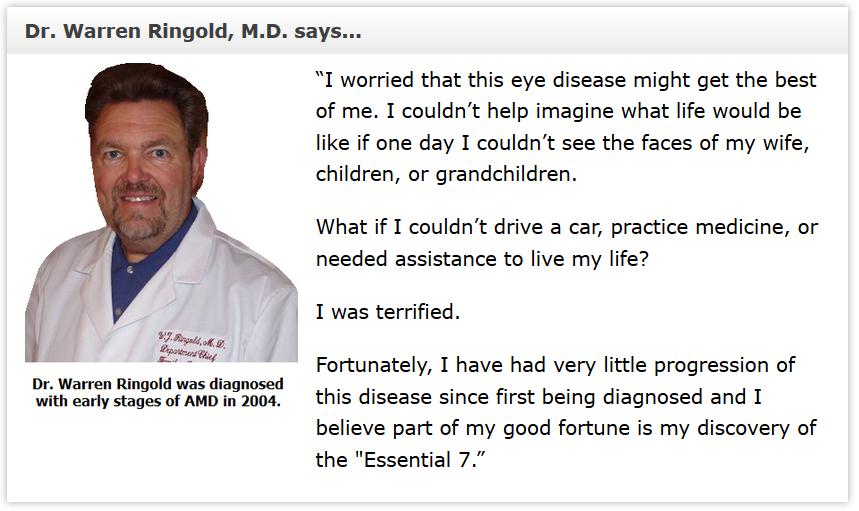 macular degeneration testimonial